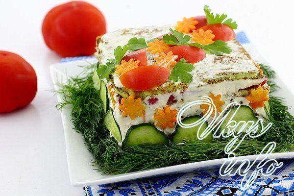 кабачковый торт рецепт с фото пошагово с морковью и луком и помидорами