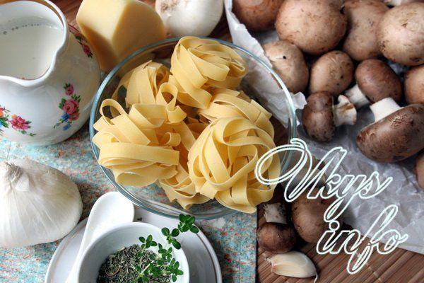 Паста с грибами в сливочном соусе фото ингредиенты