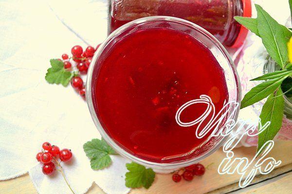 Рецепт для желе из красной смородины