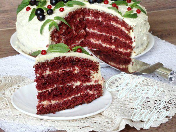Пирог красный бархат рецепт пошагово 80