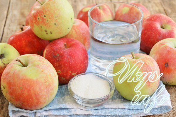 Домашнее яблочное пюре на зиму фото ингредиенты