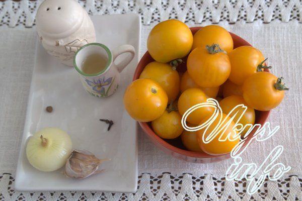что можно сделать из желтых помидоров
