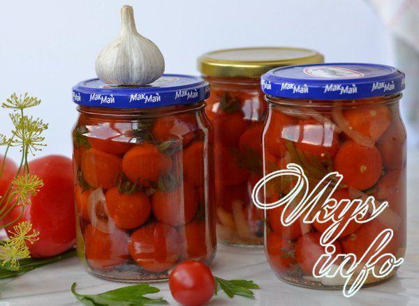 как посолить мелкие помидорки