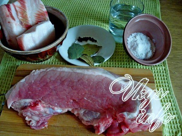 Домашняя тушенка из свинины фото ингредиенты