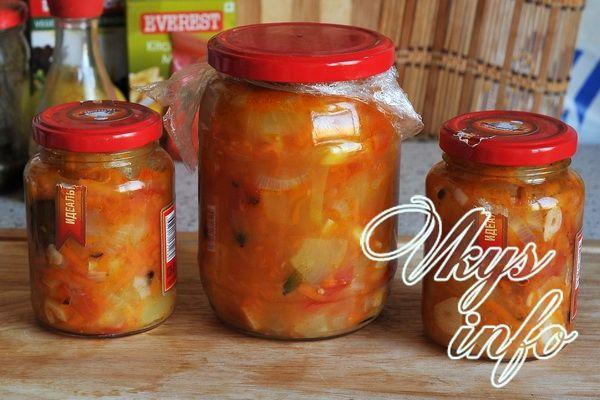 рецепт овощного рагу на зиму без уксуса