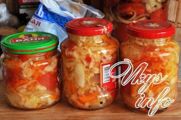 салат с капустой и огурцами на зиму рецепты с фото