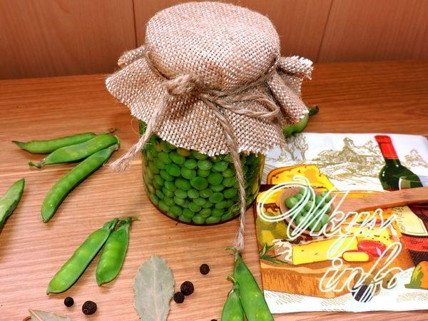 Как консервировать зеленый горошек