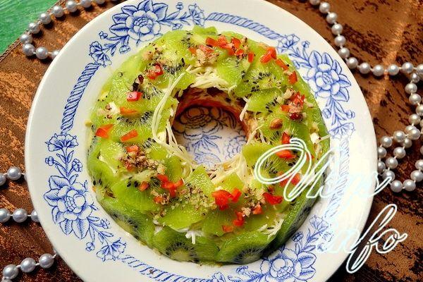 салат изумрудный с киви рецепт с фото