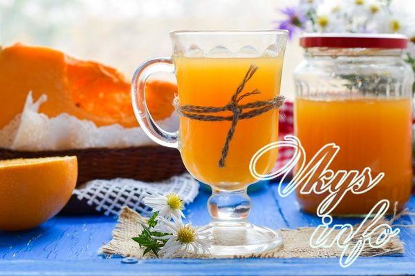 рецепт Сок из тыквы с апельсином на зиму