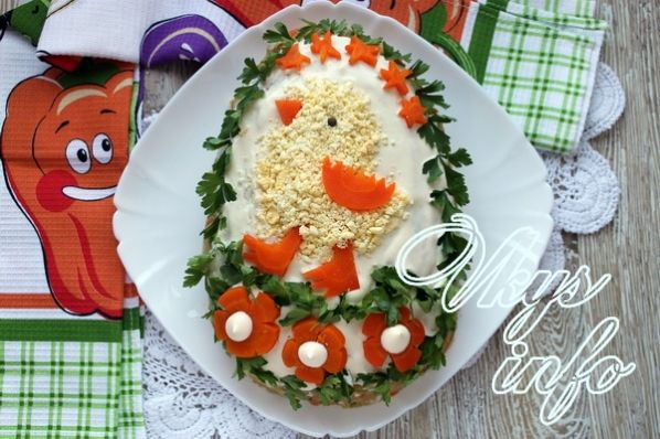 Салат шалавый цыпленок