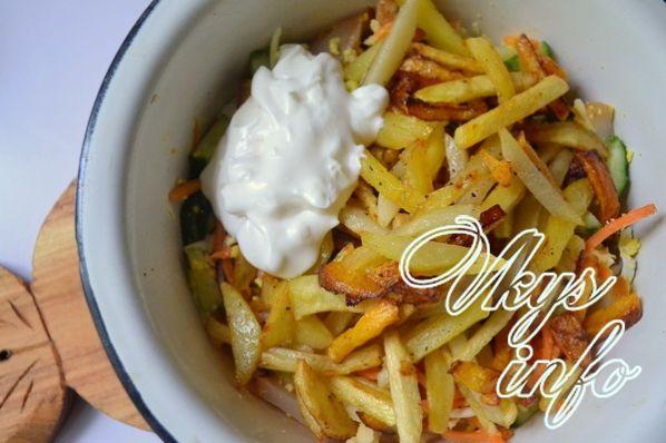Салат с кальмаром горячего копчения рецепт