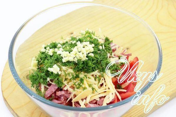 рецепт салата по грузински с помидорами