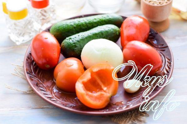 salat ogurcy pomidory 2