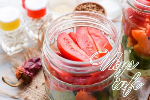 salat ogurcy pomidory 8
