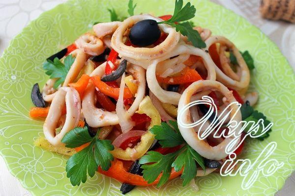 салат кальмарів рецепт