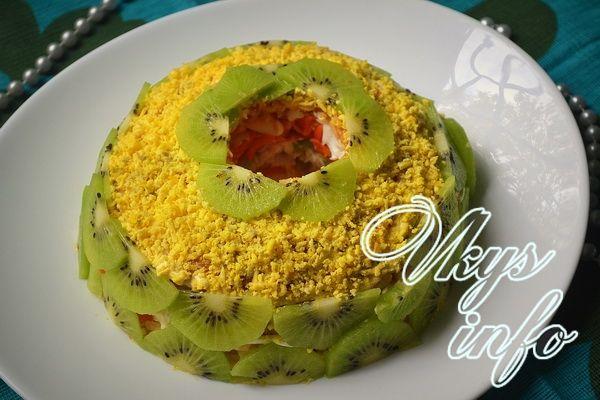 Салат с киви рецепт с фото пошагово