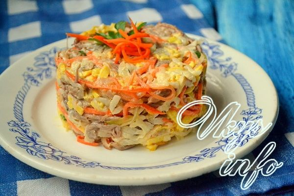 салат обжорка с морковкой рецепт с фото
