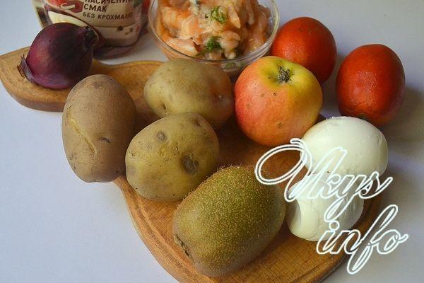 Салат Изумрудная россыпь с киви фото ингредиенты