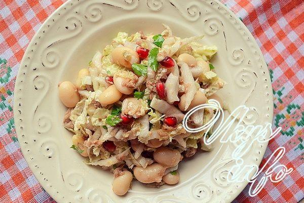 салат с тунцом консервированным рецепт с пекинской капустой