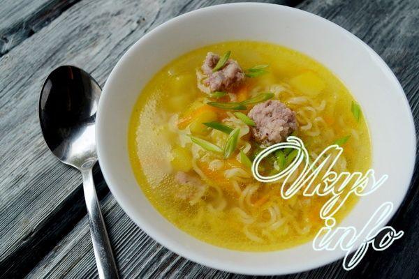 рецепт быстрого супа с сосисками