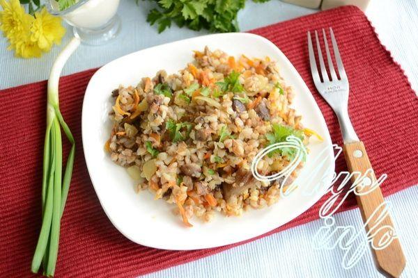 гречка с грибами и луком и морковью рецепт