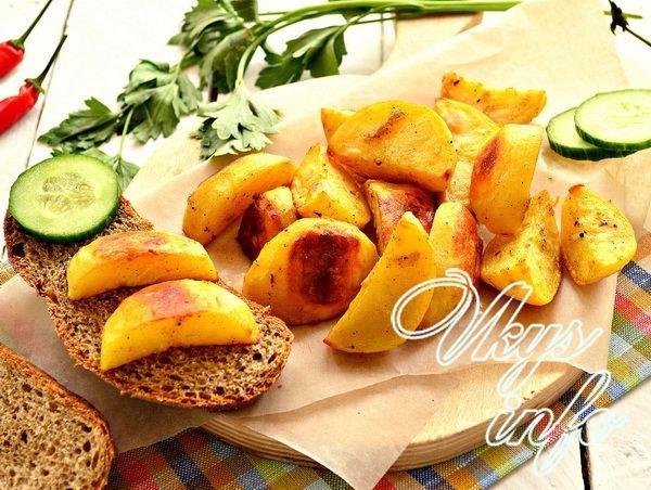 картофель с золотистой корочкой в духовке рецепт