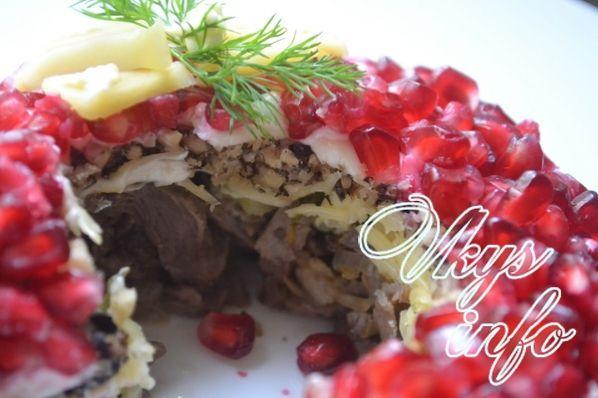 Гранатовый браслет салат классический рецепт без мяса