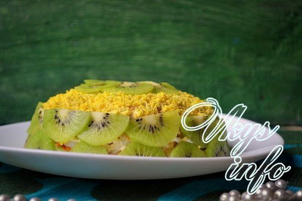 Салат малахитовый браслет рецепт с фото пошагово с копченой курицей