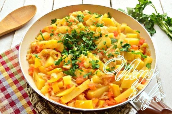 Овощное рагу с баклажанами и кабачками рецепт с фото в духовке