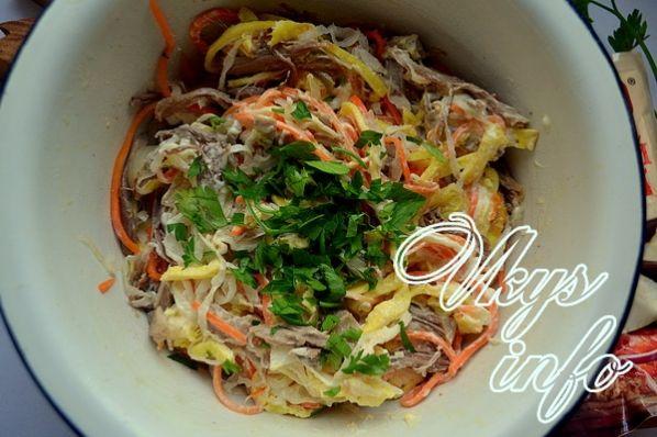 обжорка с говядиной салат рецепт классический с