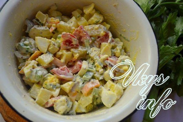 Рецепт картофельного салата по американски