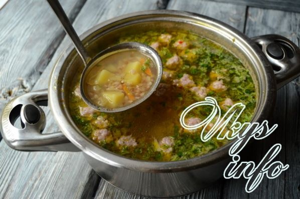 рецепт гречневого супа с фрикадельками в мультиварке