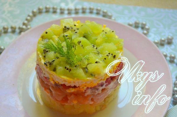 Салат изумрудный россыпь с киви рецепт 2