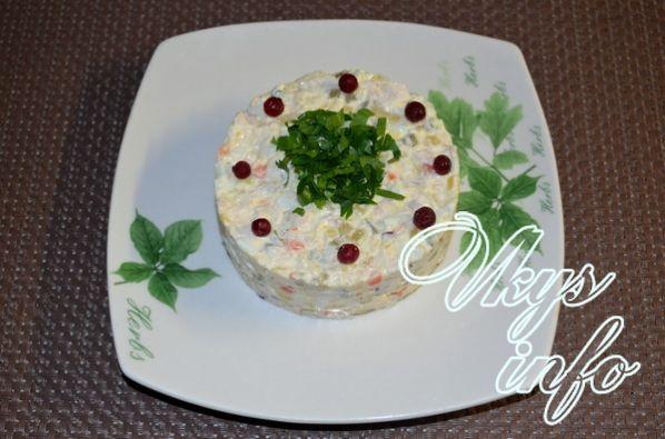 салат столичный классический рецепт с курицей с фото