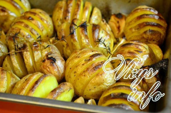 картофель в кожуре в духовке рецепты с фото