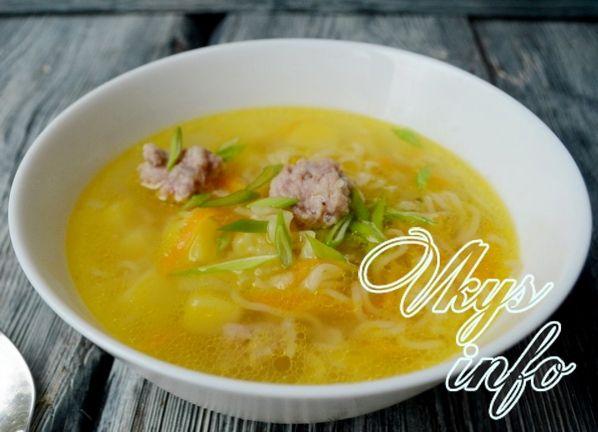 Суп с яичной лапшой роллтон рецепт