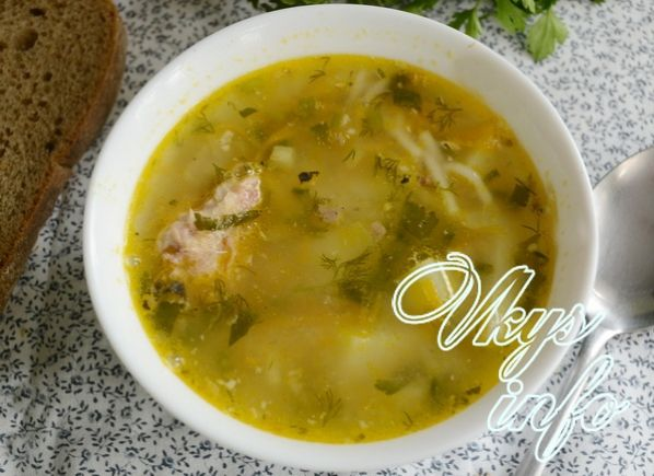 Суп из сардины консервы с маслом с фото