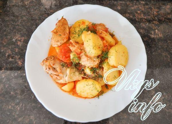 Как приготовить жаркое с курицей и картошкой