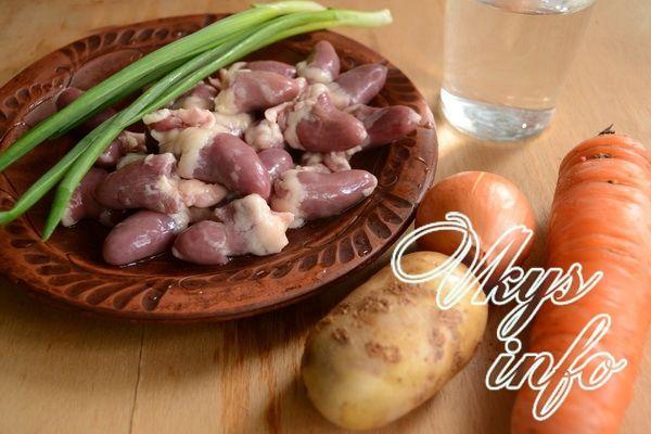 рецепт картошка с куриными сердечками в мультиварке