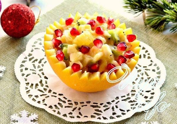 рецепты на новый год фруктовых салатов