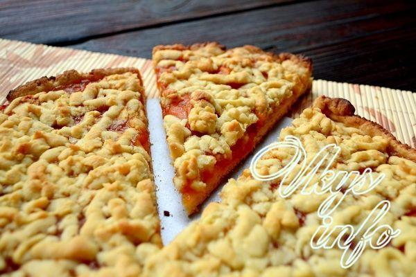 Пирог с маргарином и вареньем