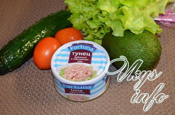 Салат из тунца консервированного и огурца рецепты с 168