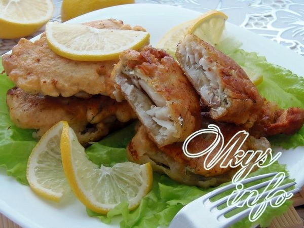 рецепт Как пожарить рыбу в кляре на сковороде