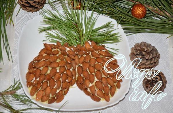 Салат шишки рецепт с фото пошагово