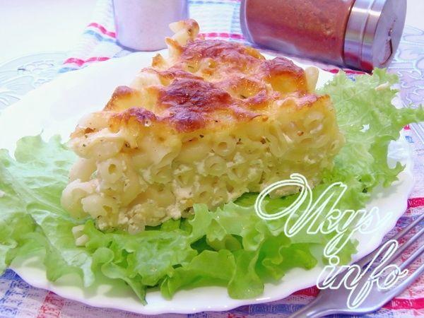 рецепт Запеканка с макаронами, сыром и яйцом