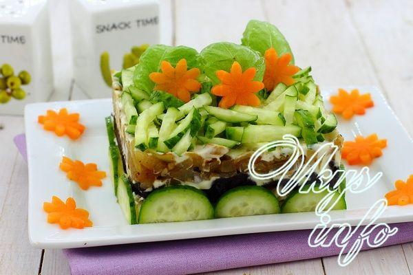 рецепт салата шампиньоны и чернослив