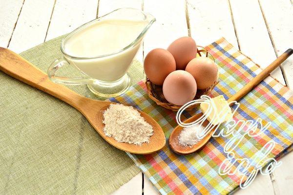Пышный омлет в духовке фото ингредиенты