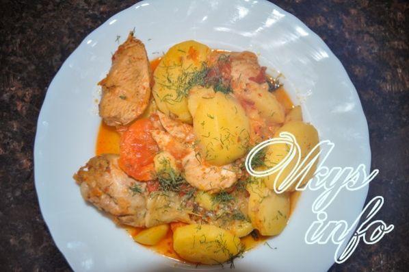 мясо по-французски рецепт с фото с курицей на сковороде