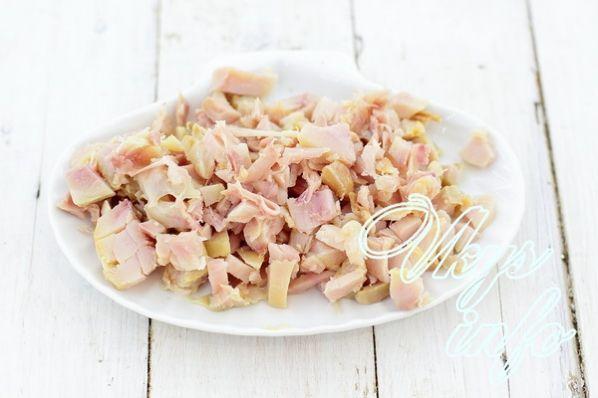 Соленый салат с копченой курицей рецепт 94