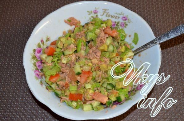 Салат из тунца консервированного тунца рецепт с очень вкусный